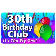 Pocket Card PC006 - 30th birthday club
