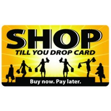 Pocket Card PC043 - Shop till you drop card