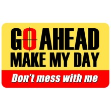 Pocket Card PC074 - Go ahead make my day
